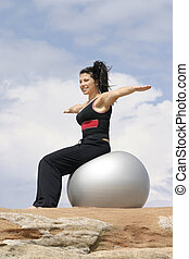 Pilates Ball - Improve flexibility and build lean muscles -...