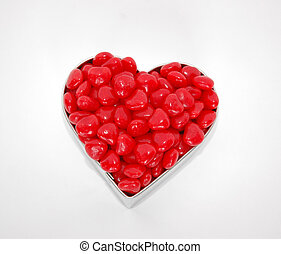 Heartful - Valentines Day image, cookie cutter filled with...
