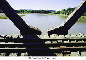 Old bridge 3 - 1941 Dominion Atlantic Railway bridge over...
