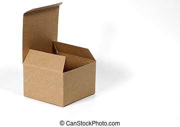 Open Box - Photo of a Isolated Open Box