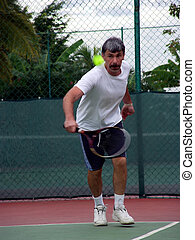 Tennis player - There is some motion blur in the image