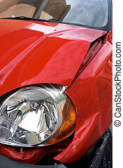 Accident 2 - a car with a dented wing after an accident