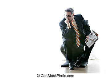 The Thinker - Businessman contemplates