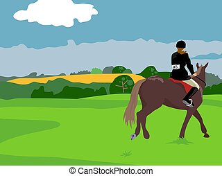 Horse Riding - Horse riding illustration