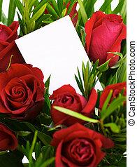 vermelho, rosas, 1