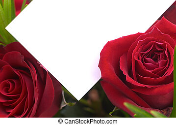 Red roses 2 - Red roses with a gift card