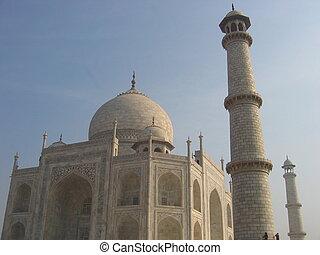 The Taj Mahal. Agra - Well, the Taj Mahal in Agra, India