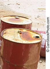 aceite, tambores