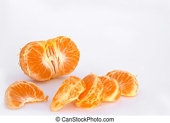 Tangerine segments - Tangerine half with segments broken out