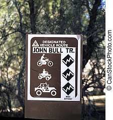 Trail Sign - off-road vehicle trail sign