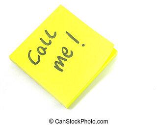 Call Me! - Handwritten 'call me' note.