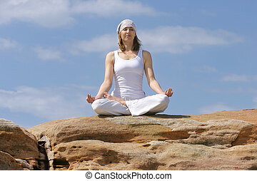 Yoga Meditation - Woman inner reflection