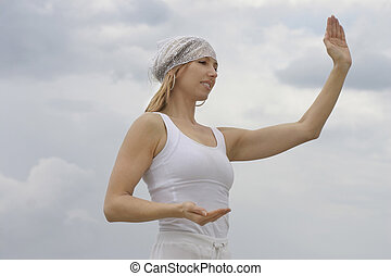 Tai chi is a form of moving meditation by doing sequences of...