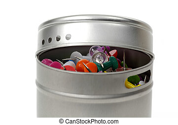 Tack Container - Photo of Tacks in a Container