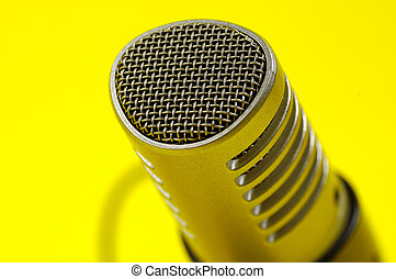 Microphone - Photo of a Microphone with Yellow Background
