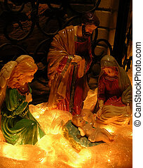 Christmas Nativity - Christmas nativity scene with baby...