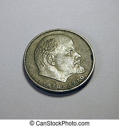 Lenin - Famous revolutionary Vladimir Ilich Lenin on coin.