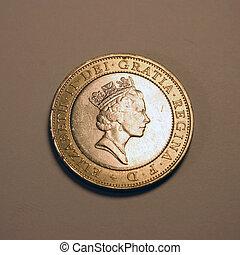 Elizabeth II - British queen Elizabeth II on coin.