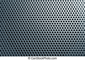 Perfored plastic - Perforation texture close-up.