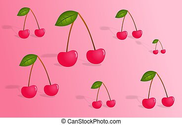 Cherries background pattern