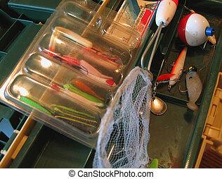 Tackle Box - Tackle box and gear