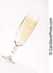 Champagne cheers - Champagne in flute.