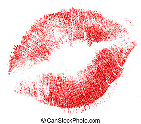 Kiss - photo illustration of lipstick after a kiss.