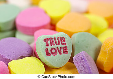True Love - Photo of Heart Shaped Candy With Phrase True...