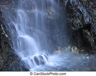 Water falls - Close up of the Kaledonia Waterfall in...