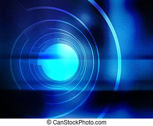 abertura, azul