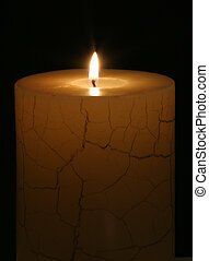 Candle alight