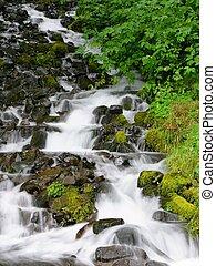 Waterfall - Columbia river gorge (in Oregon) waterfall