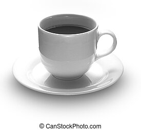 coffee cup - grayscale coffee cup