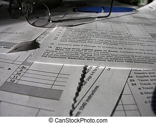 tax time - misc tax forms and instructions