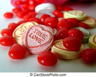 true love #2 - different candies with a message