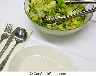salad - partial salad in a erving bowl