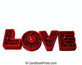Love Candles - Candles spelling the word Love - Valentines...