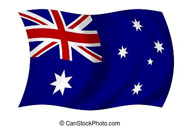 Australian flag - Waving flag of australia - australian flag