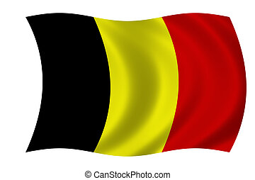 flag of Belgium - waving flag of Belgium