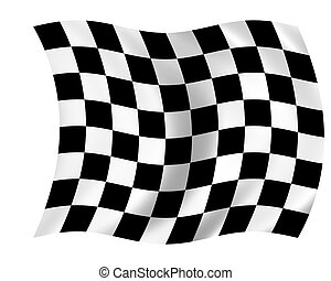 checkered flag - waving checkered flag