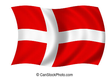 flag of denmark - waving flag of denmark