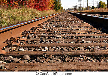Autum Rails - Railroad tracks