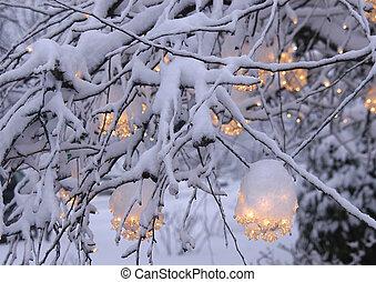 navidad, luz, 2