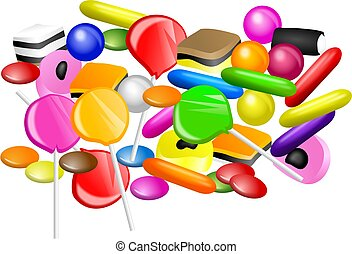Candy Mixture - Mixed candy collection.