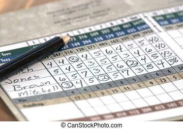 Scorecard - A golfers score card