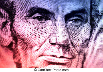 Abraham Lincoln - Macro Photo of Lincoln From The Five...