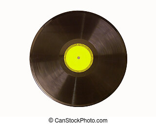 vinyl record #1 - Isolated image of a vinyl record