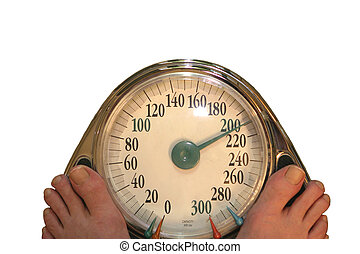 Diet time - Feet on Scale