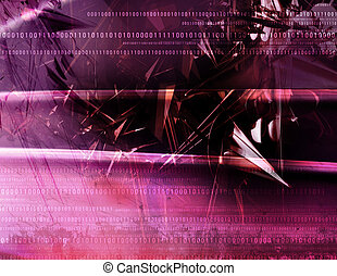 Abstract Background - Abstract, chaotic geometry with binary...