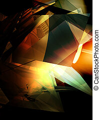 Abstract Background - abstract, surreal geometry, with color...